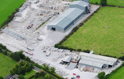 Aerial view of Greaney Concrete